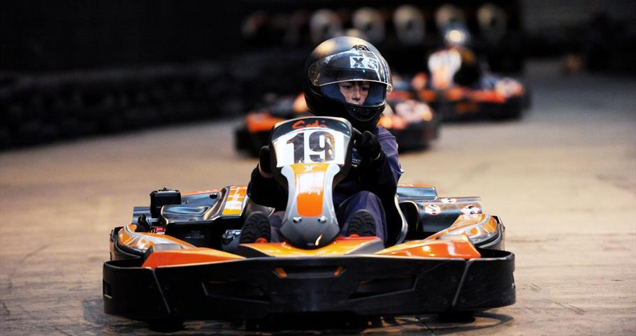 Picture of child driving a kart at Prestige Karting Pendle