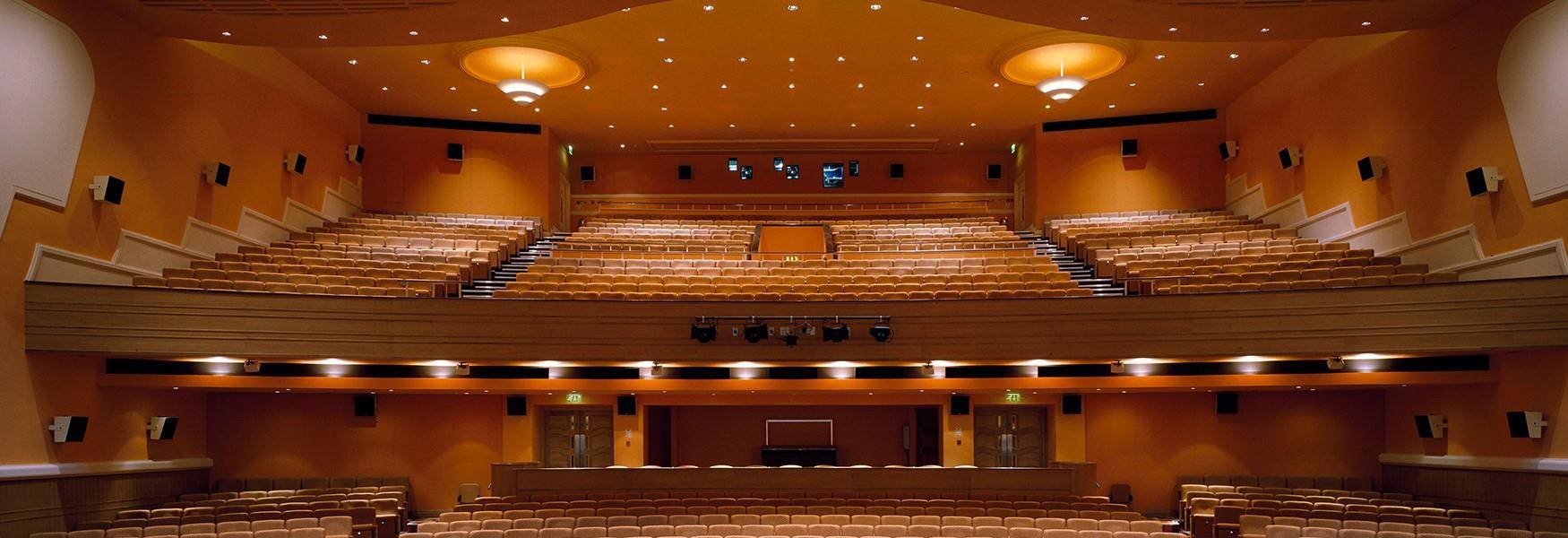 An interior image of the Peterborough New Theatre auditorium.