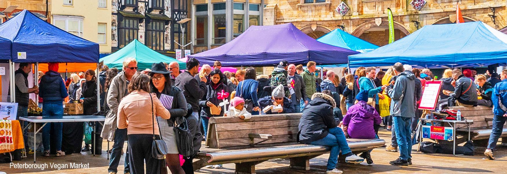 Peterborough Vegan Market in Cathedral Square
