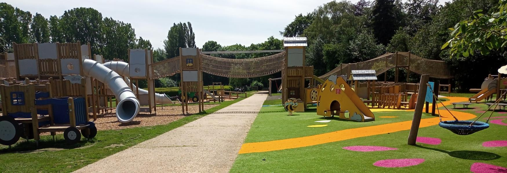 One of the play areas at Sacrewell