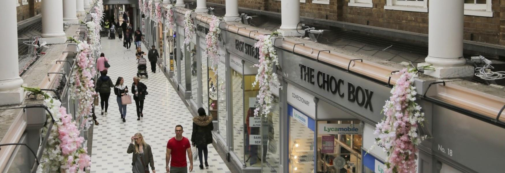 Westgate Arcade - the home of independent retail in Peterborough city centre.