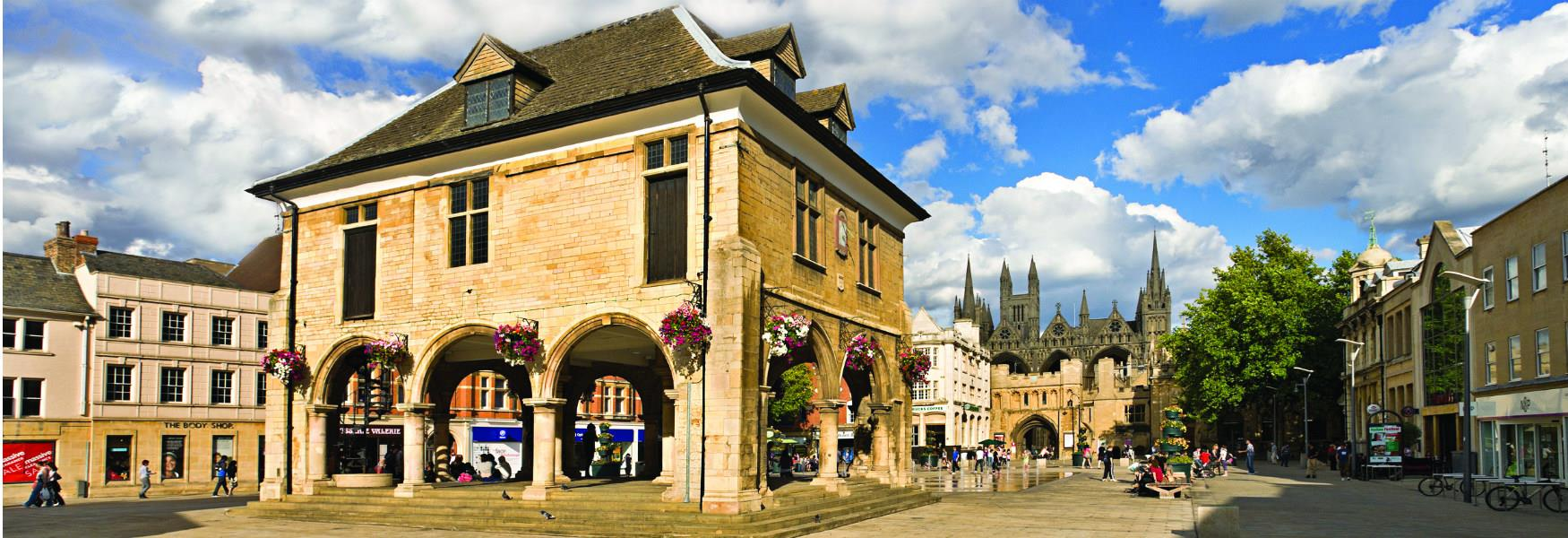 Image of the Peterborough Guild Hall in Cathedral Square