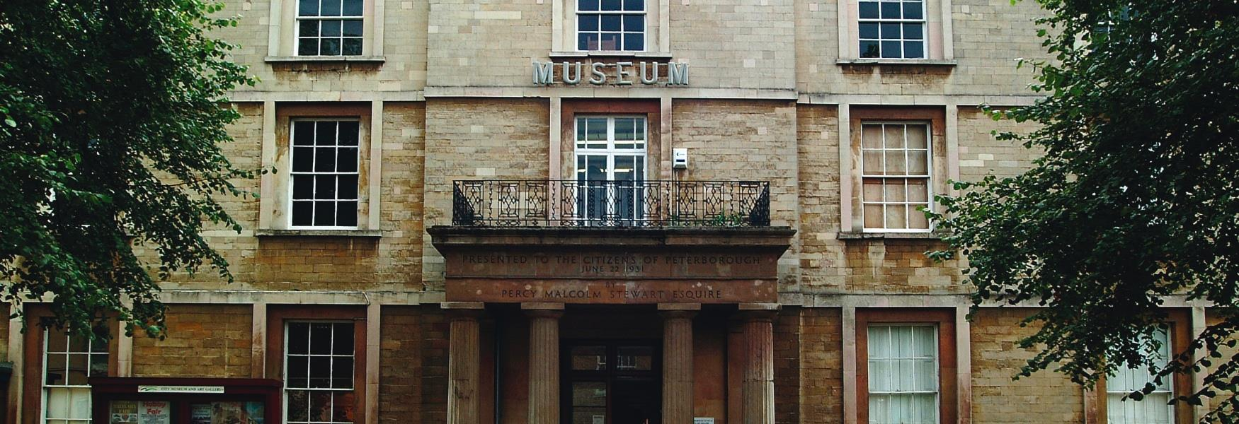 Image of the front entrance of the Peterborough Museum