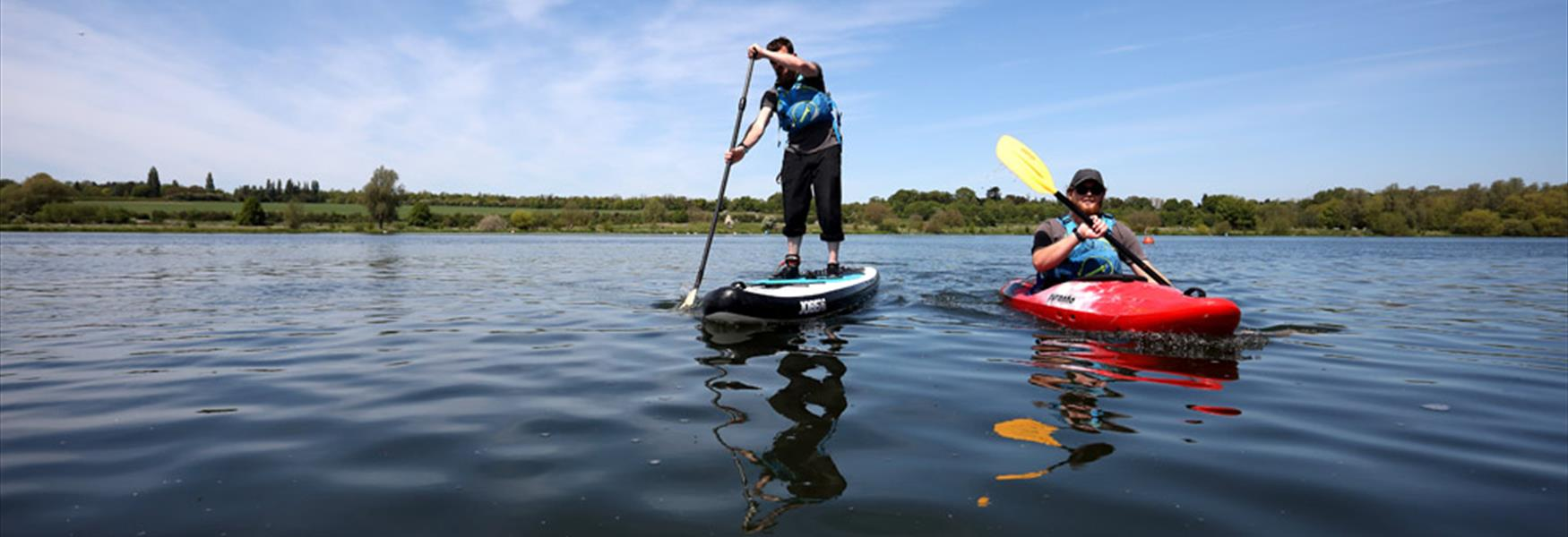 Paddle-boarding at Ferry Meadows
