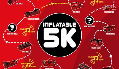 The obstacles on the Inflatable 5k
