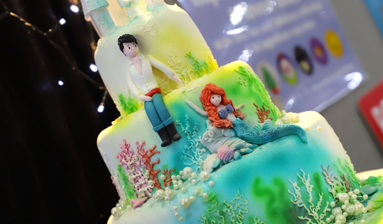 The Little Mermaid inspired cake decoration at Crafting Live