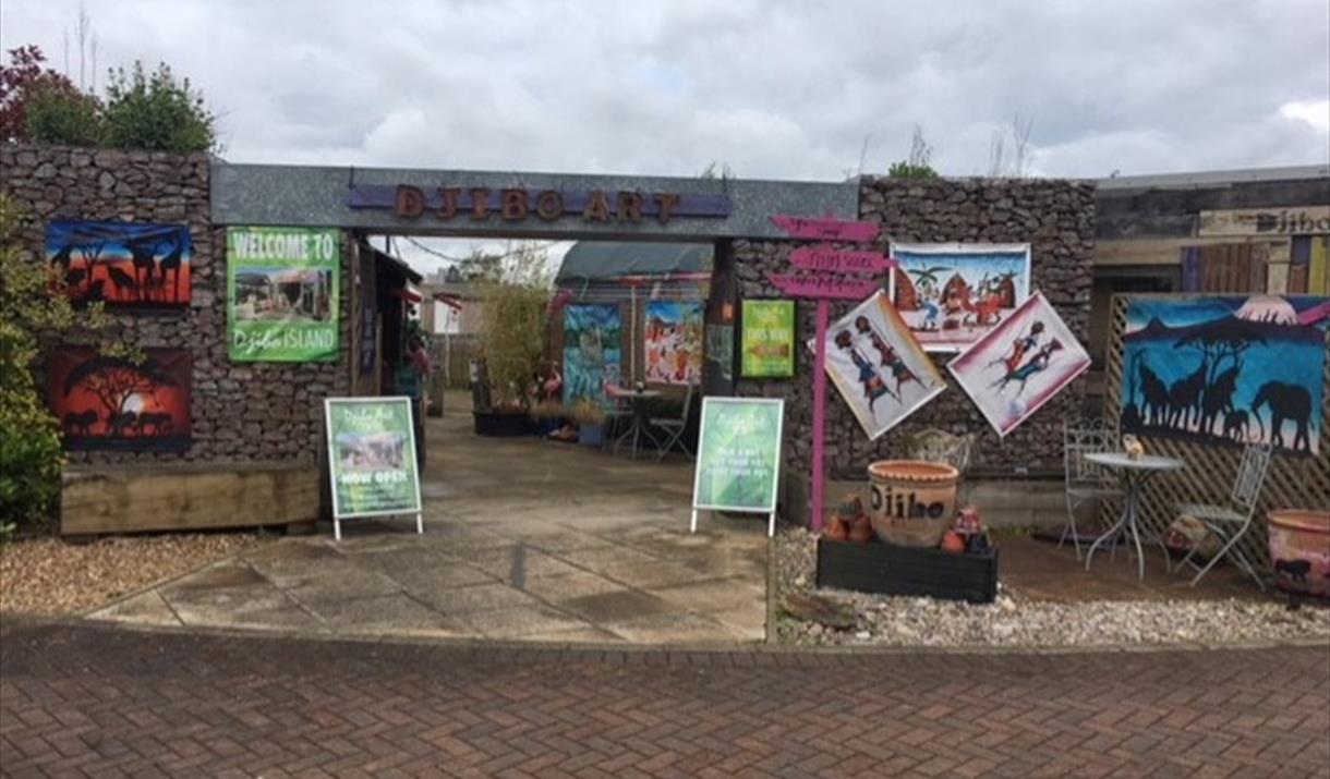 The entrance to Djibo Arts Island at the Van Hage Garden Centre.