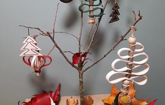 Hand made leather crafts ready for Christmas