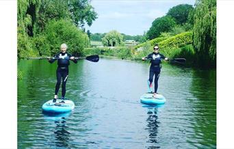 Paddleboarding at Adventure Rutland