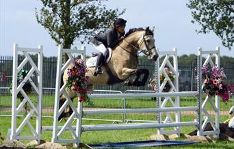 Competitive riding at Equifest