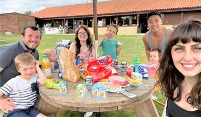 A group visits Sacrewell