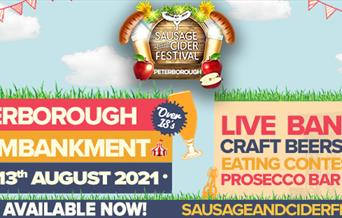 Sausage and Cider Fest on 13 August 2021