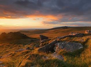Views across Dartmoor National Park