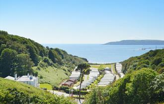 Bovisand Lodge Holiday Park - view of valley to the beach