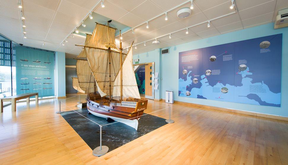 Replica model of the Mayflower