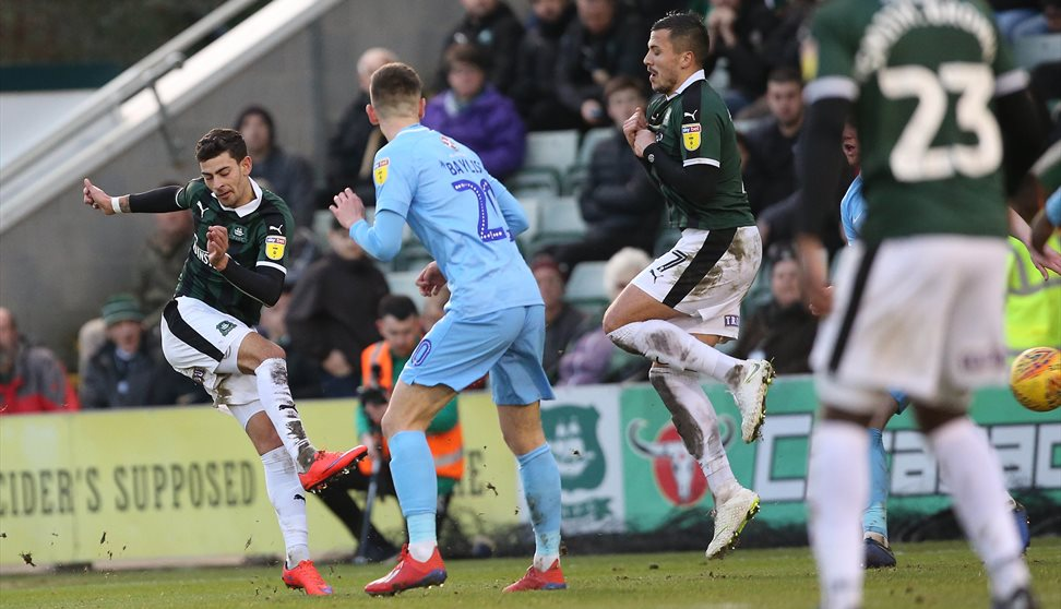Plymouth Argyle players during a game
