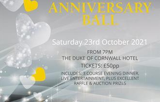 Silver & Sparkly 25th Anniversary ball