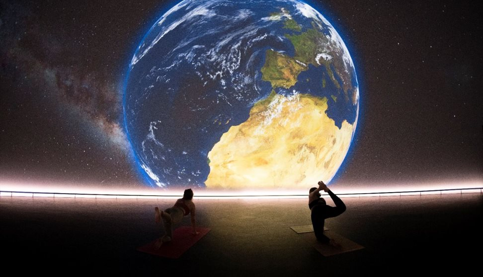 Yoga in the Market Hall immersive dome