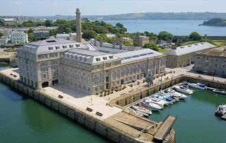 Royal William Yard from the air.