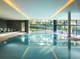 Swimming pool at Gaia Spa, Boringdon Hall.