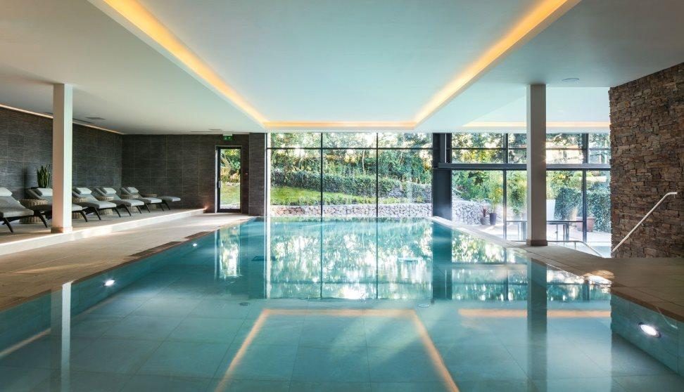 Swimming pool at Gaia Spa, Boringdon Hall.