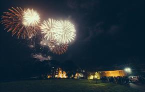 Fireworks at Boringdon Hall Hotel