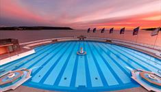 Tinside Lido at sunset