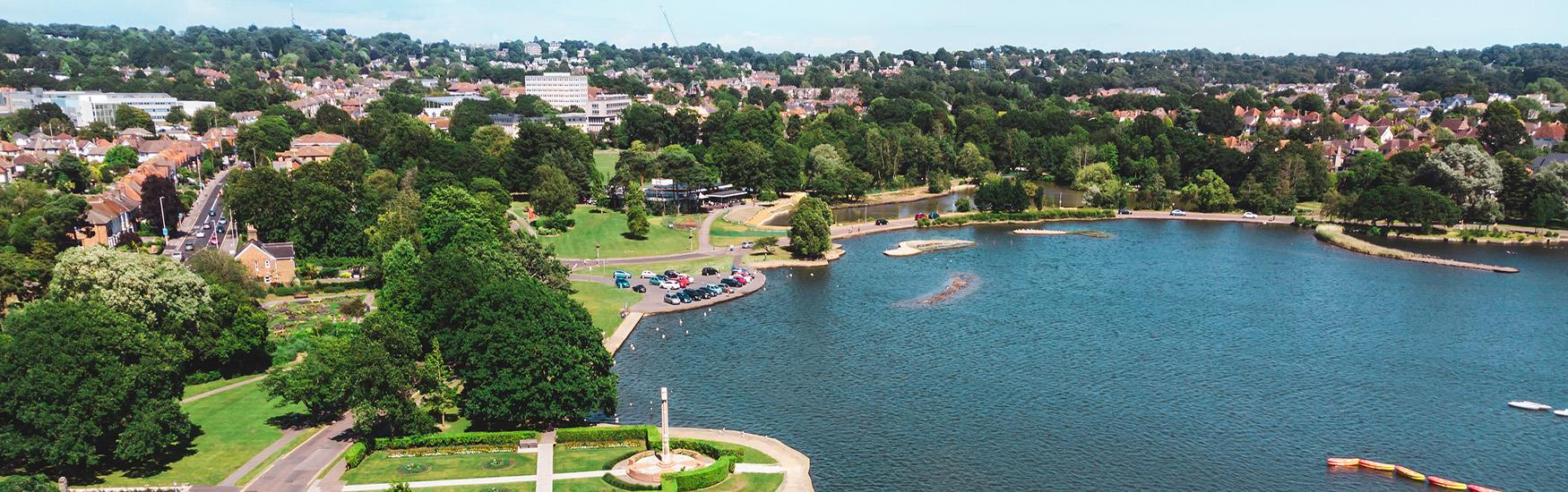Stunning views at Poole Park