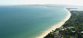 Image: Aerial View of Sandbanks, Poole © Poole Tourism |