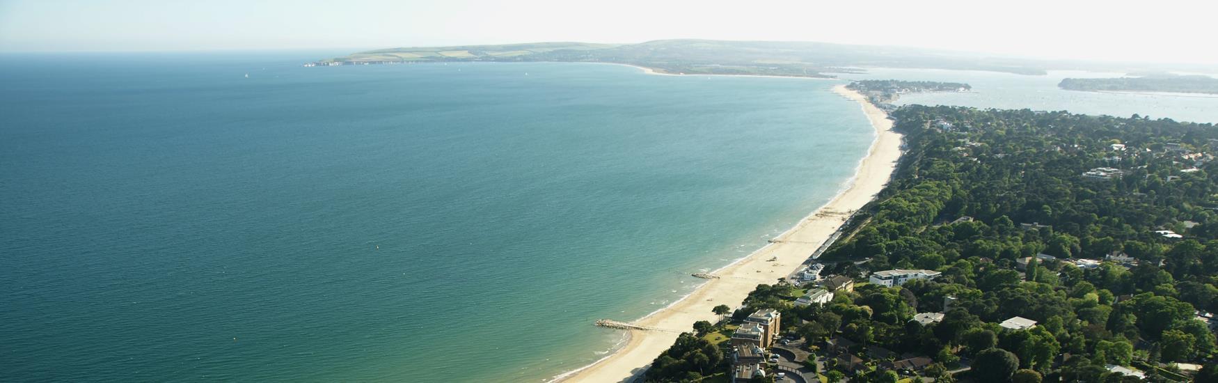 Image: Aerial View of Sandbanks, Poole © Poole Tourism