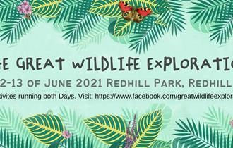 The Great Exploration green sign with dates 12-13 June 2021
