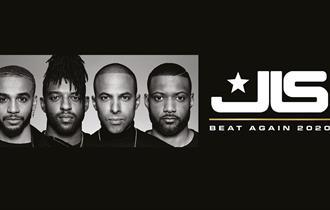 JLS 'beat again 2020 tour' promo header.