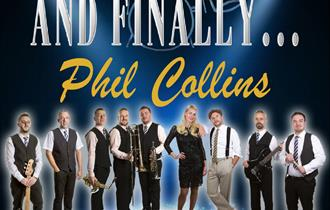 Phil Collins tribute band members in a poster