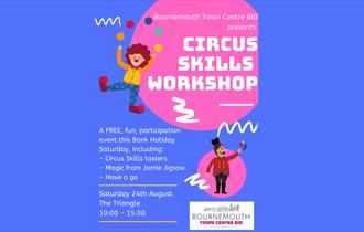 Colourful poster with details about the workshop.
