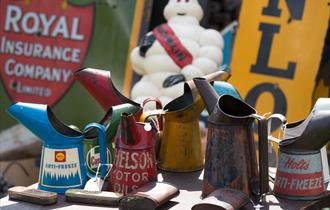 Items for sale at the International Autojumble