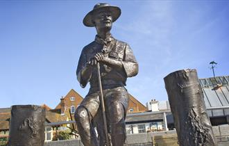 Lord Baden Powell Sculpture, Poole Quay
