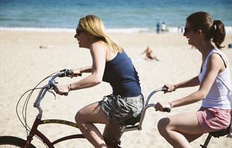 Bournemouth Front Bike Hire Along Promenade