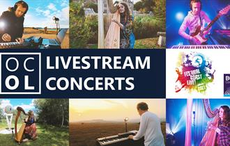 OCOL Livestream Concerts for FCL! BCP montage of images