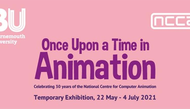 banner for Once Upton a Time in Animation Exhibition