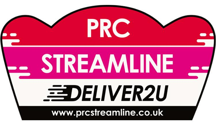 PRC streamline logo with the text DELIVER2U and website www.prcstreamline.co.uk