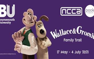 banner advert for Wallace & Gromit Family Trail