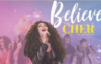 Believe - The Cher Songbook, Cher singing into a microphone