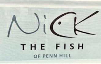 Nick the fish logo on a pale green background.