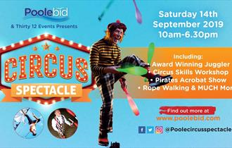 Event poster with dates and information sponsored by Poole BID