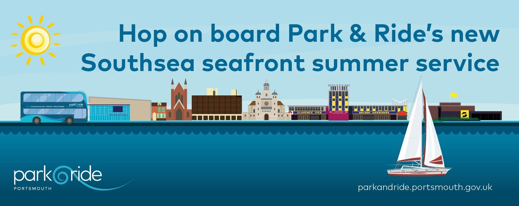 Illustration for Portsmouth Park and Ride featuring Southsea attractions