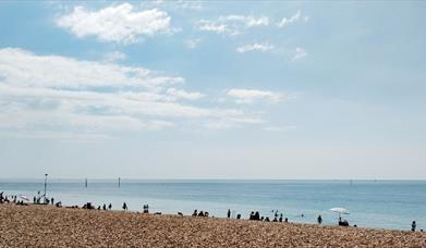 View out to sea from Southsea Seafront