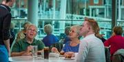 Enjoy a meal with the family at the Waterfront Cafe