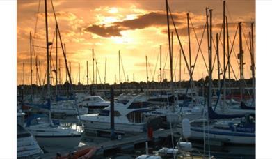 Sunset at Southsea Marina