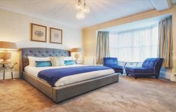 Large bed at The Florence Suite.