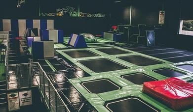 Trampoline floor at Flip Out Portsmouth